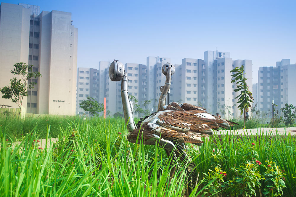 Recycled Cranes at Palava