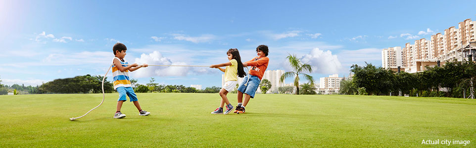 Lodha Palava City - Garden and Play Area