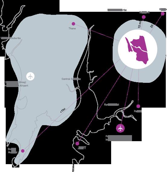 Lodha Palava Map